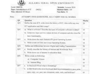 Introduction TO ICT AIOU